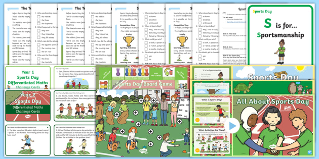 ks1 sports day themed activities and resource pack year 1 year 2 p e. Black Bedroom Furniture Sets. Home Design Ideas