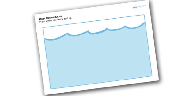 Float Record sheet - record, float, float record, worksheet