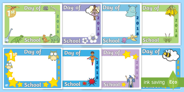 First Day Of School 2018 Photo Booth Frame Cut Outs Resource Pack