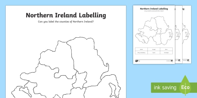 Map Of Northern Ireland Counties.Northern Ireland Labelling Worksheet Worksheet Northern Ireland