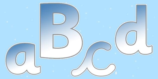 Winter Display Lettering & Symbols - Winter, Display lettering, display letters, alphabet display, letters to cut out, letters for displays, coloured letters, coloured display, coloured alphabet, Arctic, winter, xmas, display poster, A4, display, ski