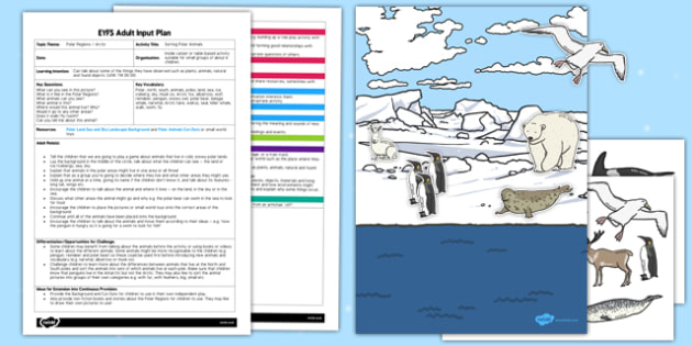 Sorting Polar Animals EYFS Adult Input Plan and Resource Pack - sorting, polar, animals, eyfs, adult input plan, pack
