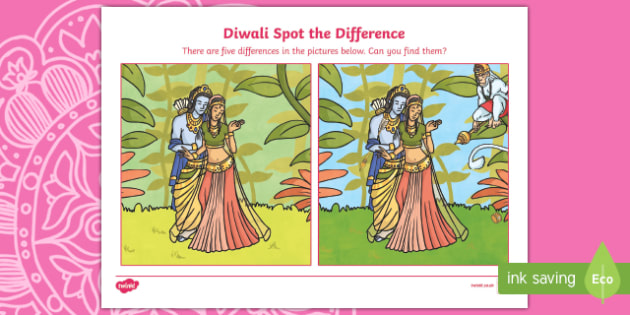 Diwali Story Spot the Difference Activity