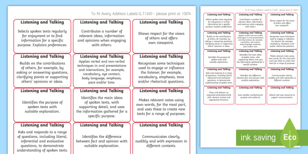 *NEW* CfE Second Level Listening and Talking Benchmark Assessment Stickers