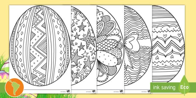 NEW * Hojas de colorear: Huevos de Pascua - huevos de pascua