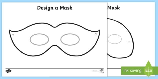 Design A Mask Art Primary Resources Teacher Made