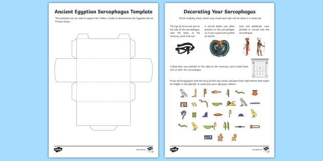 Make Your Own 3d Sarcophagus Template