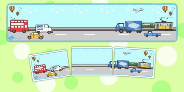 Transport Themed Editable Banner for Publisher - banner, display