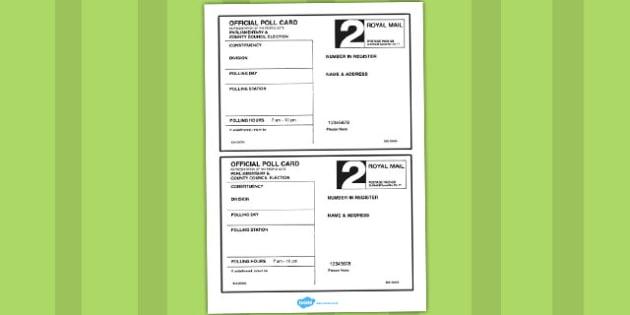Polling Card Template - polling, card, template, role-play, play