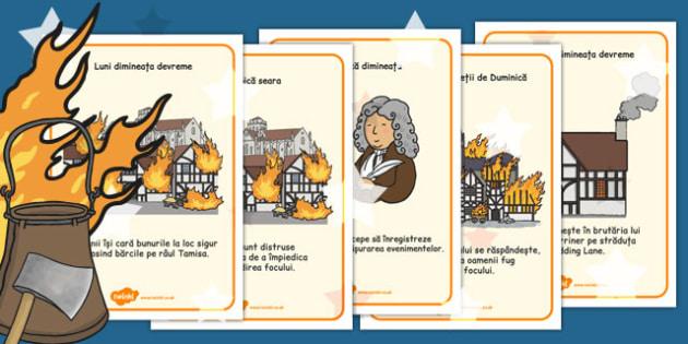 Marele incendiu al Londrei - Planșe cu imagini și cuvinte - marele incendiu, jetoane, imagini, planșă, cultură, civilizație, britanică, elemente istorice, materiale, materiale didactice, română, romana, material, material didactic