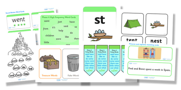 Phase 4 Resource Pack - phase 4, phase four, resource pack, resources, phase 4 resources, phase 4 activities, actvities, word cards, display poster, words