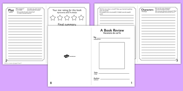 Book Review Booklet Romanian Translation - romanian, book review, booklet, book, review