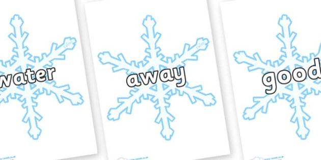 Next 200 Common Words on Snowflakes (New) - Next 200 Common Words on  - DfES Letters and Sounds, Letters and Sounds, Letters and sounds words, Common words, 200 common words