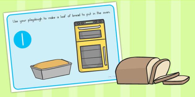 Bread Playdough Mats - food, fine motor skill, eating, eat, bread