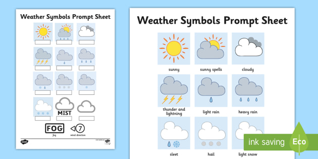 Weather Symbols Worksheet Activity Sheet Weather