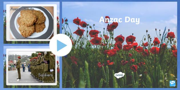 Anzac Day Photo PowerPoint - anzac display information, anzac
