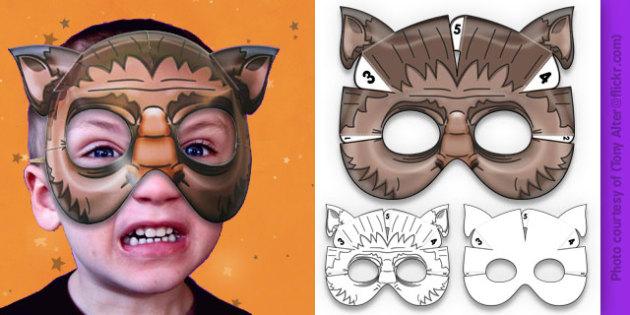 3D Halloween Werewolf Monster Mask - 3d, halloween, werewolf, monster, mask
