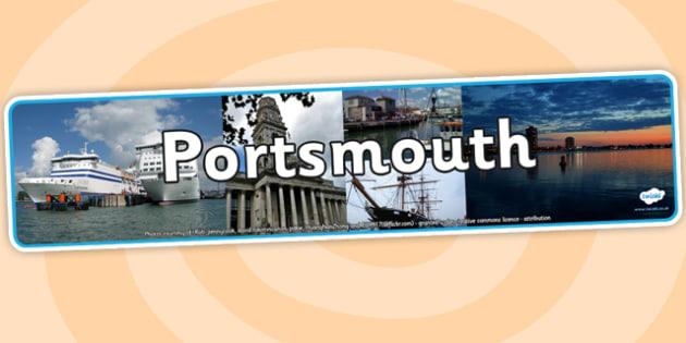 Portsmouth Photo Display Banner - portsmouth, photo banner, photo display banner, display banner, display header, header, banner, header for display, photos