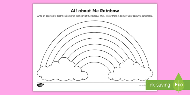 All About Me Rainbow Worksheet