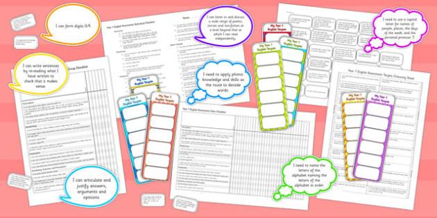 2014 Curriculum Year 1 English Assessment Resource Pack - KS1