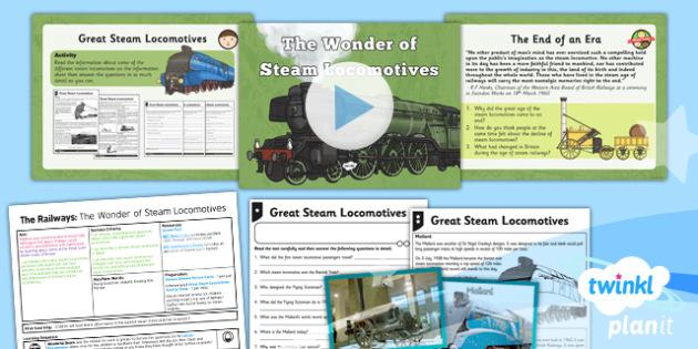 History: The Railways: The Wonder of Steam Locomotives LKS2 Lesson Pack 2