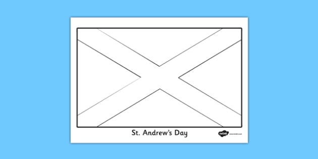 St. Andrew Flag Colouring Sheet - st andrews day, flag