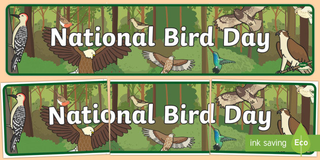 National Bird Day Banner