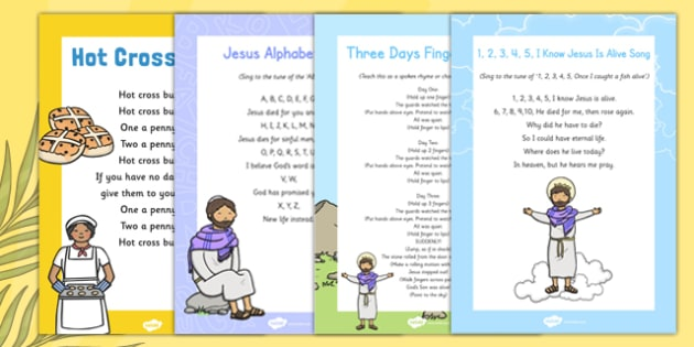 Christian Easter Songs and Rhymes Pack - Easter, song, rhyme, christian, pack