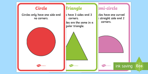 2D Shape Information A4 Display Poster -  Shape, Foundation Phase Profile, Numeracy, Wales, Outcome 3, Outcome 4, Foundation Profile, 2D shap