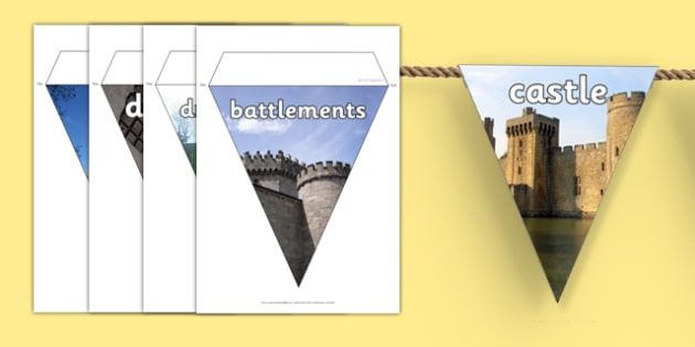 Castles and Knights Photo Bunting - castle, knight, bunting