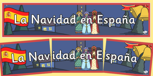 La Navidad en Espana Display Banner - spanish, la navidad, espana, christmas, banner