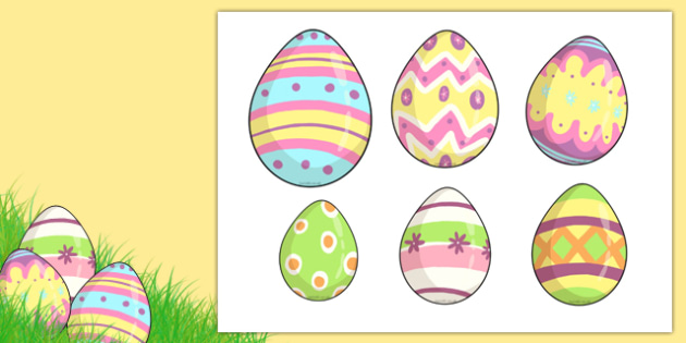 Easter Egg Size Ordering - size ordering, size, ordering, put in order, shapes, easter egg, easter size ordering, size ordering activity, easter egg size ordering activity, objects, ordering activity, activity, different sizes