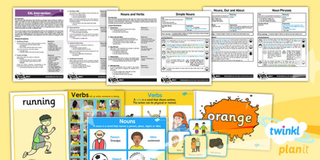 PlanIt - EAL Intervention - Basic Skills 4: Nouns and Verbs Resource Pack