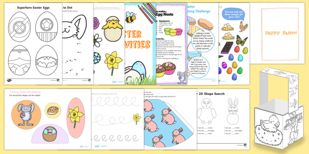 EYFS Easter Home Learning Activity Pack