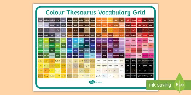 Colour thesaurus vocabulary grid colour thesaurus colour thesaurus vocabulary grid colour thesaurus vocabulary grid vocabulary grid solutioingenieria Choice Image