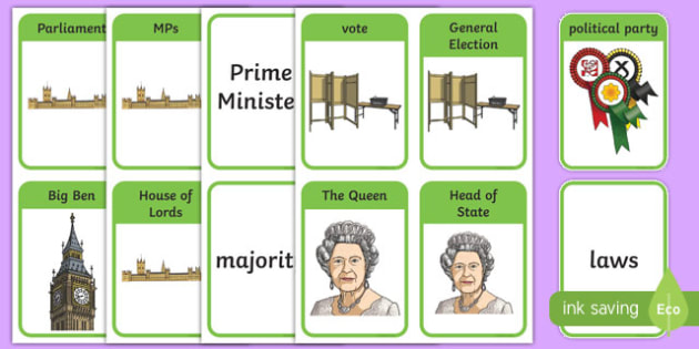 UK Parliament and Government Flashcards, general election, voting