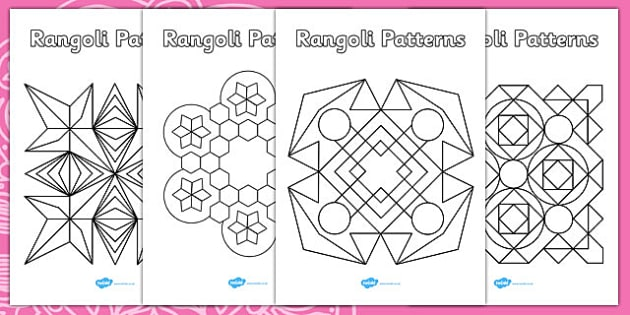 Rangoli Patterns Templates - Diwali Colouring Patterns