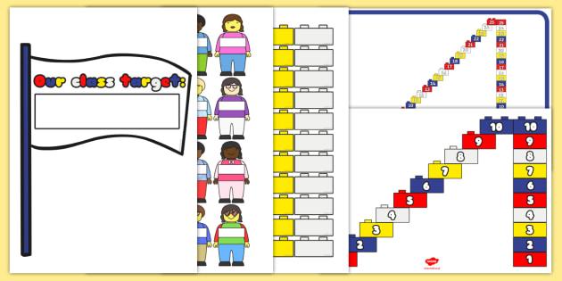 Building Brick Reward Display Pack - building brick, reward, display pack