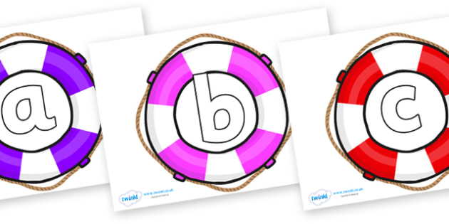 Phoneme Set on Life Belts - Phoneme set, phonemes, phoneme, Letters and Sounds, DfES, display, Phase 1, Phase 2, Phase 3, Phase 5, Foundation, Literacy