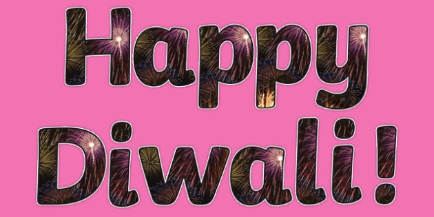 Diwali Firework Photo Display Lettering