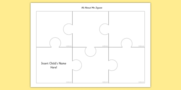 All About Me Puzzle - all about me, jigsaw, puzzle, about, me