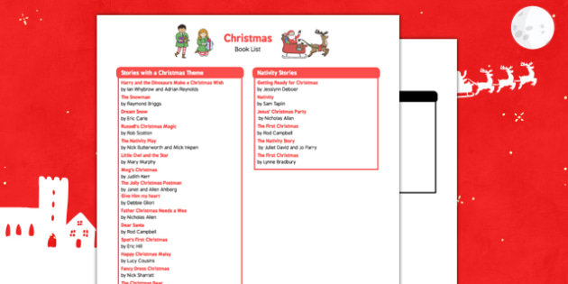 Christmas Book List - christmas, book list, book, list, christmas book, christmas list