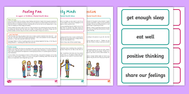 Children's Mental Health Week Circle Time Activity Pack ...