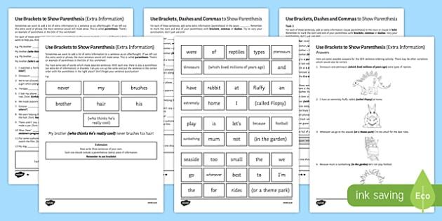 parenthesis worksheet activity sheet pack worksheet. Black Bedroom Furniture Sets. Home Design Ideas