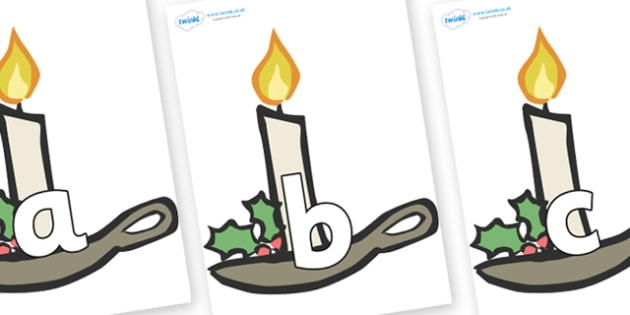 Phoneme Set on Christmas Candles - Phoneme set, phonemes, phoneme, Letters and Sounds, DfES, display, Phase 1, Phase 2, Phase 3, Phase 5, Foundation, Literacy