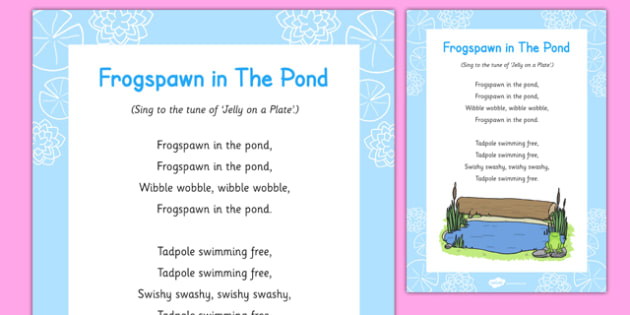 Frogspawn in the Pond Song - tadpole, frog, life cycle, eyfs, early years, singing, frogs, spring, growth