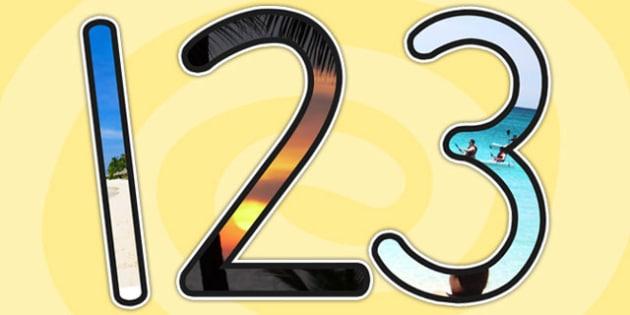 Summer Themed Photo Display Numbers - numbers, display numbers
