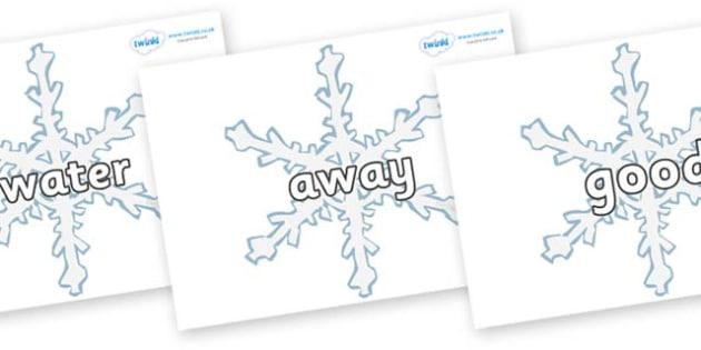 Next 200 Common Words on Snowflakes - Next 200 Common Words on  - DfES Letters and Sounds, Letters and Sounds, Letters and sounds words, Common words, 200 common words