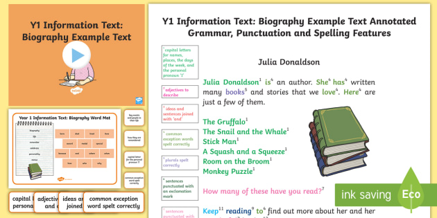 Y1 Information Texts Biography Model Example Text