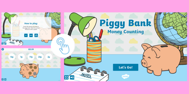 Piggy Bank: Money Counting Game